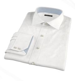 Canclini White Imperial Twill Fitted Shirt