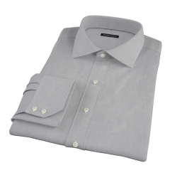 Jones Charcoal Grey End-on-End Fitted Dress Shirt