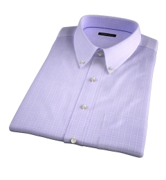 Firenze 120s Lavender Multi Grid Short Sleeve Shirt