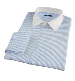 Canclini 120s Light Blue Medium Grid Custom Dress Shirt