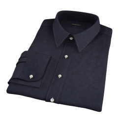 Thomas Mason Black Luxury Broadcloth Fitted Dress Shirt