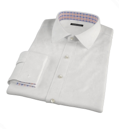 Thomas Mason White Twill Custom Made Shirt