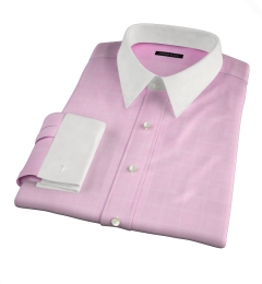 Thomas Mason Pink Prince of Wales Check Fitted Shirt
