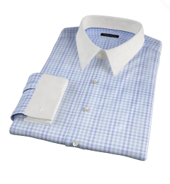 Adams Blue Multi Check Tailor Made Shirt