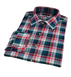 Wythe Multi Color Plaid Fitted Dress Shirt