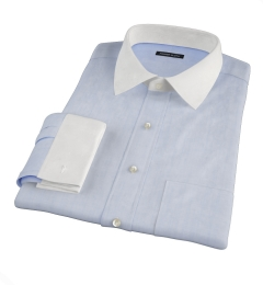 Albini Light Blue Chambray Custom Dress Shirt