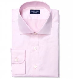 Thomas Mason Goldline Pink Fine Twill Fitted Dress Shirt
