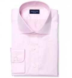 Thomas Mason Goldline Pink Fine Twill Fitted Dress Shirt