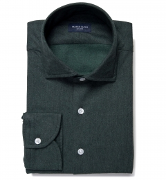 Canclini Green Twill Flannel Custom Made Shirt