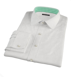Greenwich White Broadcloth Custom Made Shirt