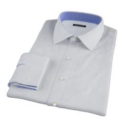 Thomas Mason Light Blue Fine Stripe Men's Dress Shirt