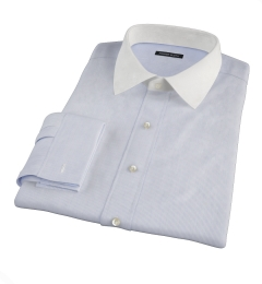 Carmine Blue Fine Stripe Dress Shirt