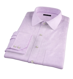 Hudson Lavender Wrinkle-Resistant Twill Fitted Dress Shirt