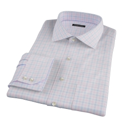 Thomas Mason Pink Multi Check Dress Shirt