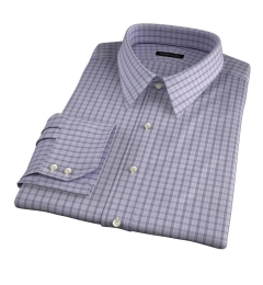 Minetta Grey Wrinkle-Resistant Multi Check Tailor Made Shirt
