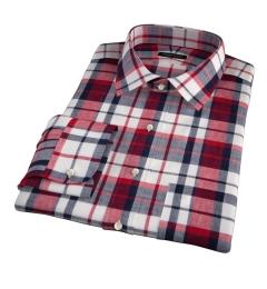 Dorado Red Plaid Fitted Shirt