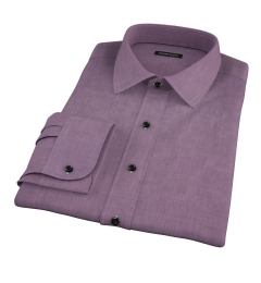 Jones Eggplant End on End Fitted Shirt