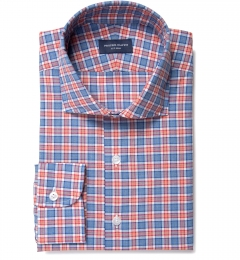 Sullivan Orange Melange Check Dress Shirt