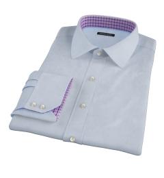 Light Blue Fine Cotton Linen Men's Dress Shirt