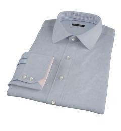 Navy Wrinkle Resistant Pinpoint Custom Dress Shirt