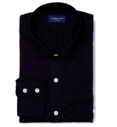 Black Chino Fitted Dress Shirt