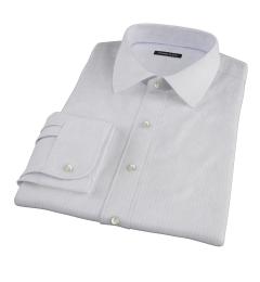 Aqua and Lavender Satin Stripe Custom Made Shirt