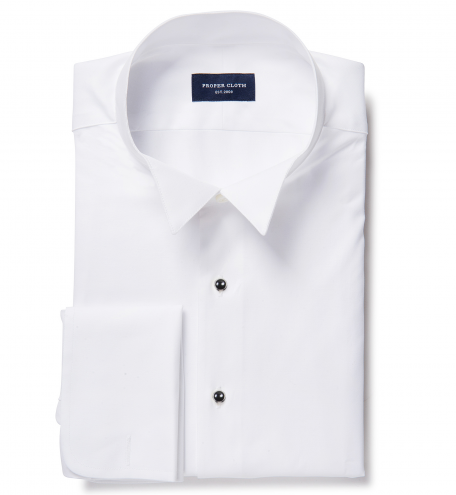 Thomas Mason White Fine Twill Custom Made Shirt