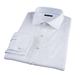Canclini Light Blue Fine Stripe Custom Dress Shirt