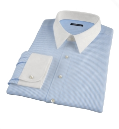 Greenwich Light Blue Mini Check Custom Made Shirt