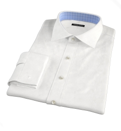 White Basketweave Custom Made Shirt