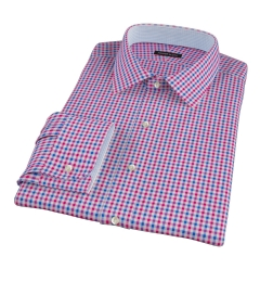 Red and Blue Gingham Dress Shirt