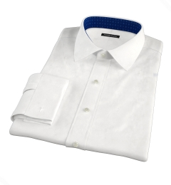 Hudson White Wrinkle-Resistant Twill Fitted Shirt
