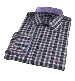 Vincent Pine and Violet Plaid Custom Made Shirt