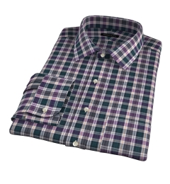 Vincent Pine and Violet Plaid Fitted Dress Shirt