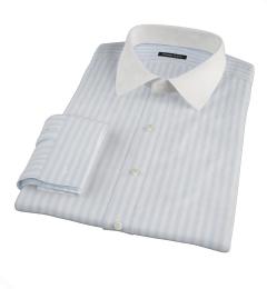 Canclini Light Blue Awning Stripe Men's Dress Shirt