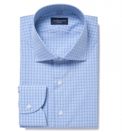 Ravenna Blue Check Custom Made Shirt