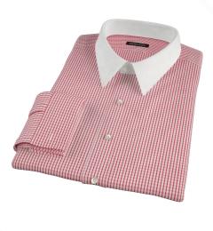 Canclini Red Medium Check Men's Dress Shirt