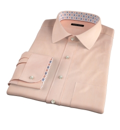 Genova 100s Apricot End-on-End Dress Shirt