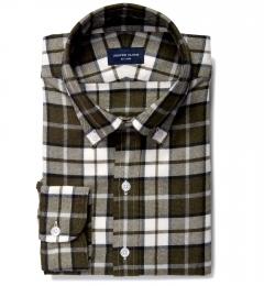 Canclini Pine Plaid Beacon Flannel Custom Made Shirt