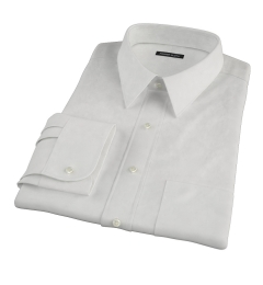 Ivory Fine Twill Dress Shirt
