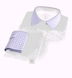 Thomas Mason Goldline Pink Multi Check Custom Dress Shirt