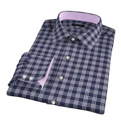 Canclini Blue Plaid Custom Dress Shirt