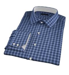 Albiate Light Blue Melange Plaid Tailor Made Shirt