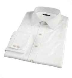 Canclini White Luxury Seersucker Custom Made Shirt