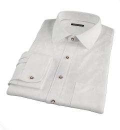 White Peached Heavy Oxford Custom Dress Shirt