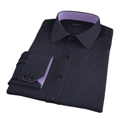 Black 100s Broadcloth Men's Dress Shirt