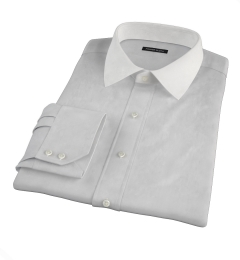 Stanton 120s Grey End-on-End Fitted Dress Shirt