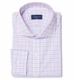Thomas Mason Pink Multi Check Tailor Made Shirt