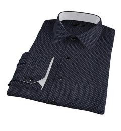 Black Japanese Flower Print Dress Shirt