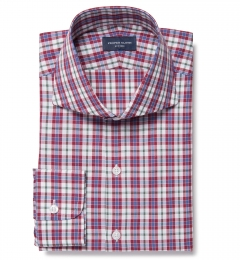 Siena Red and Green Multi Check Dress Shirt